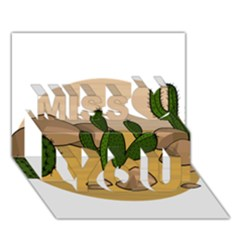 Desert 2 Miss You 3d Greeting Card (7x5)