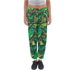 Dino Pattern Cartoons Women s Jogger Sweatpants by AnjaniArt