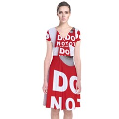 Do Not Disturb Short Sleeve Front Wrap Dress by AnjaniArt