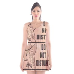 Do Not Disturb I Want To Sleep Thanks Scoop Neck Skater Dress by AnjaniArt