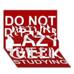 Do Not Disturb Lazy Geek Studying Glass Framed Poster Get Well 3d Greeting Card (7x5) by AnjaniArt