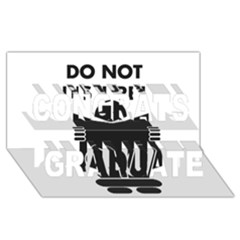 Do Not Disturb Sign Board Congrats Graduate 3d Greeting Card (8x4) by AnjaniArt
