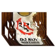 Do Not Disturb Sign Please Go Away I Don T Care Merry Xmas 3d Greeting Card (8x4) by AnjaniArt