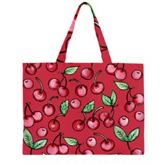 Cherry Cherries For Spring Zipper Large Tote Bag