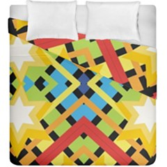 Starette Monica Bold Vivid Color Flash Duvet Cover Double Side (King Size) by CircusValleyMall