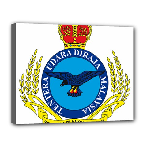 Crest Of Royal Malaysian Air Force Canvas 14  X 11