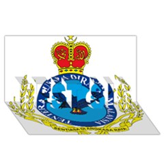 Crest of Royal Malaysian Air Force BEST SIS 3D Greeting Card (8x4) by abbeyz71