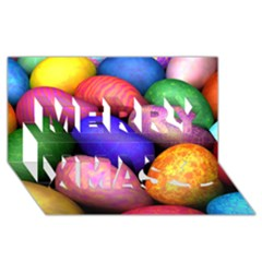 Easter Egg Merry Xmas 3d Greeting Card (8x4)