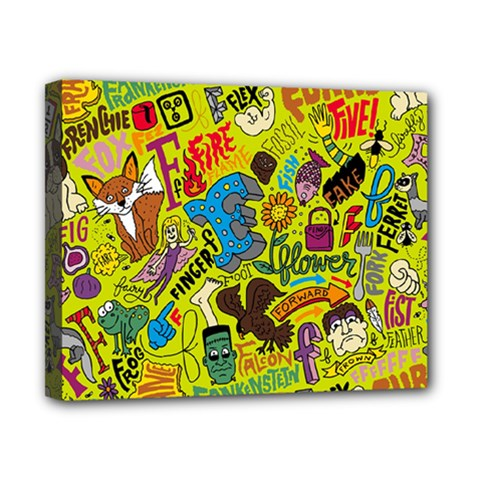 F Pattern Cartoons Canvas 10  X 8  by AnjaniArt