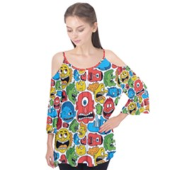 Face Creeps Cartoons Fun Flutter Tees