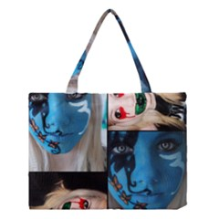 Holliwood Face Painting Medium Tote Bag by AnjaniArt