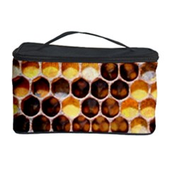 Honey Honeycomb Pattern Cosmetic Storage Case by Zeze