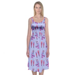 Unicorns & Icecreams In Lavender Midi Sleeveless Dress by Contest2504870