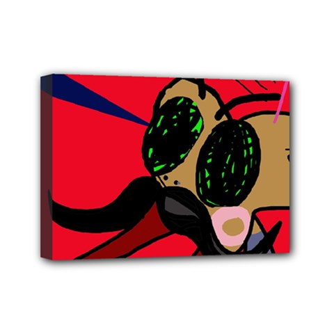 Mr Fly Mini Canvas 7  x 5  by Valentinaart