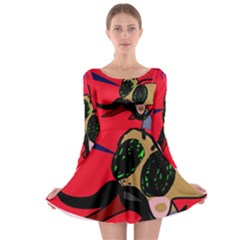 Mr Fly Long Sleeve Skater Dress by Valentinaart