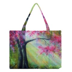 Forests Stunning Glimmer Paintings Sunlight Blooms Plants Love Seasons Traditional Art Flowers Sunsh Medium Tote Bag by Zeze