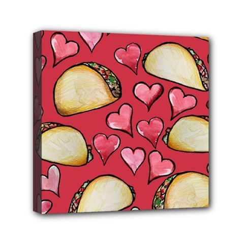 Taco Tuesday Lover Tacos Mini Canvas 6  X 6  by BubbSnugg