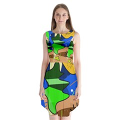 Aquarium  Sleeveless Chiffon Dress   by Valentinaart