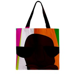 Cool Zipper Grocery Tote Bag by Valentinaart