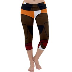 Cool Capri Yoga Leggings by Valentinaart