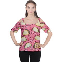 Taco Tuesday Lover Tacos Women s Cutout Shoulder Tee by BubbSnugg