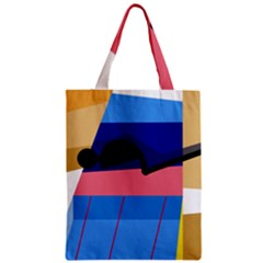 Jumping Zipper Classic Tote Bag by Valentinaart