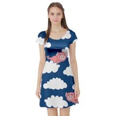 When Pigs Fly Short Sleeve Skater Dress