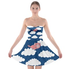 When Pigs Fly Strapless Bra Top Dress