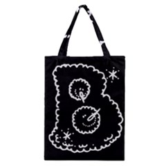 Funny Black And White Doodle Snowballs Classic Tote Bag by yoursparklingshop