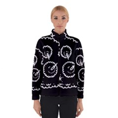 Funny Black And White Doodle Snowballs Winterwear by yoursparklingshop