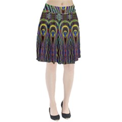 Curves Color Abstract Pleated Skirt by Zeze
