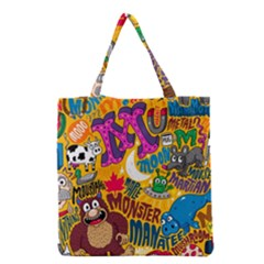 M Pattern Grocery Tote Bag