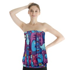 Mo Monsters Mo Patterns Strapless Top by AnjaniArt