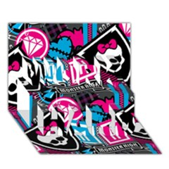 Monster High Work Hard 3d Greeting Card (7x5) by AnjaniArt