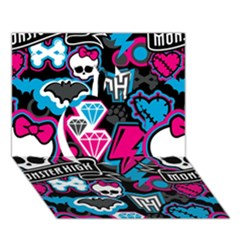 Monster High 03 Apple 3d Greeting Card (7x5) by AnjaniArt