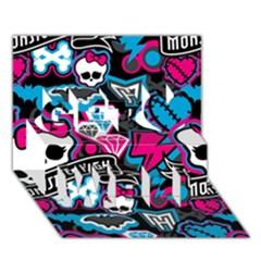 Monster High 03 Get Well 3d Greeting Card (7x5)