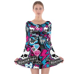 Monster High 03 Long Sleeve Skater Dress by AnjaniArt