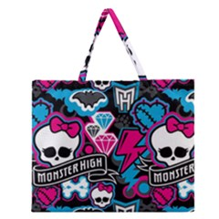 Monster High 03 Zipper Large Tote Bag by AnjaniArt