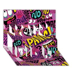 Panic Pattern You Did It 3d Greeting Card (7x5) by AnjaniArt