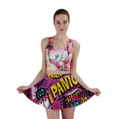 Panic Pattern Mini Skirt by AnjaniArt
