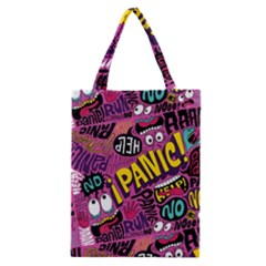 Panic Pattern Classic Tote Bag by AnjaniArt