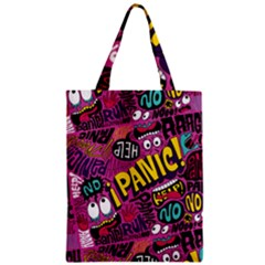 Panic Pattern Zipper Classic Tote Bag by AnjaniArt