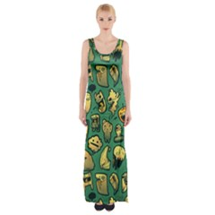 Pattern Linnch Maxi Thigh Split Dress by AnjaniArt
