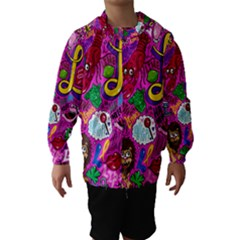 Pattern Monsters Hooded Wind Breaker (Kids) by AnjaniArt