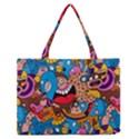 People Face Fun Cartoons Medium Zipper Tote Bag View1