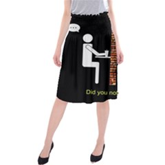 Pict Man Midi Beach Skirt by AnjaniArt
