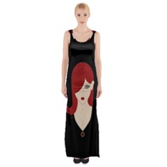 Picture Female Maxi Thigh Split Dress by AnjaniArt
