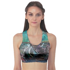 Vegas The Deep End  Sports Bra by CrypticFragmentsColors