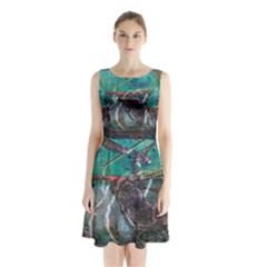 Vegas The Deep End  Sleeveless Chiffon Waist Tie Dress