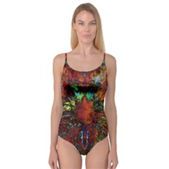 Boho Bohemian Hippie Floral Abstract Camisole Leotard